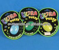 Glow in the dark Ultra Putty/Silly Putty & Handgum/Bouncing Thinking Putty