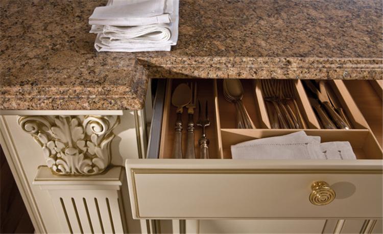 Mediterranean style solid wood kitchen cabinet design, kitchen cabinet