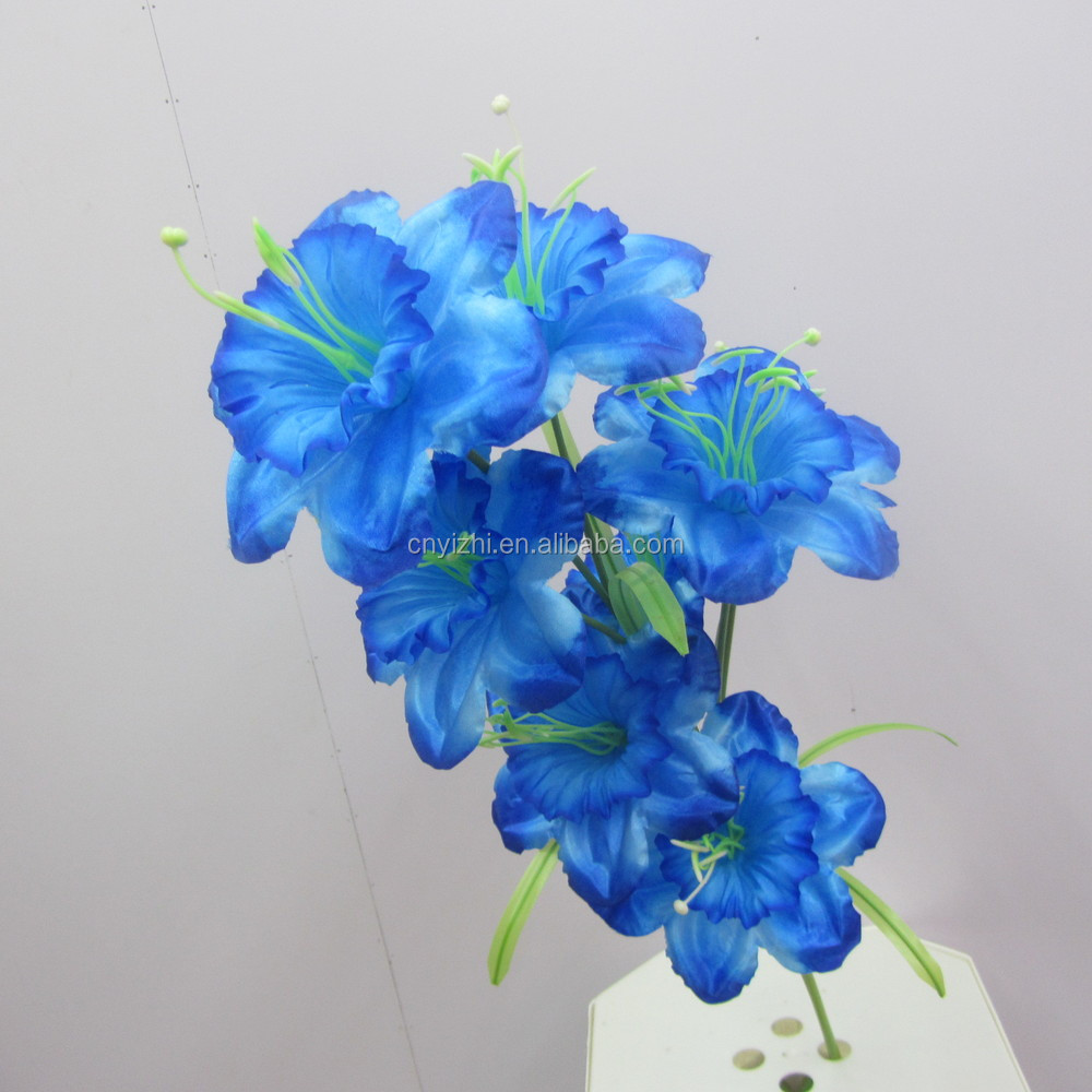Supply high quality blooms lily flower single oriental blue lily yzb00048g izmirmasajfo