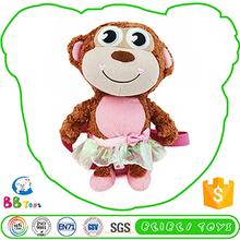 Hot-Selling Custom Tag Cute Plush Toy Blue Stuffed Monkey