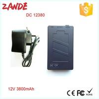 Super Power New Dc 12v Portable 3800mah Li-ion Super Rechargeable Battery Pack black