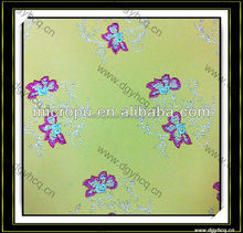 best quality computer embroidery pu leather for garment sofa