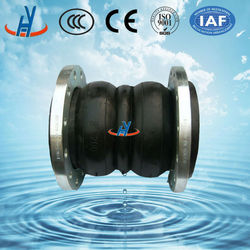 Internal high density double sphere rubber expansion joint