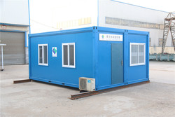 mobile modular flat sandwich panel movable office container drawing