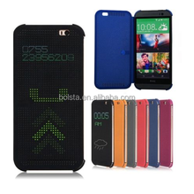 best price Dot View smart phone case cover for htc desire 620/flip cover case for htc desire 820