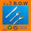 eco-friendly disposable plastic silver tableware flatware