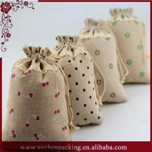 Vintage Wedding Handmade Natural Linen Bags Full Printed Exporter
