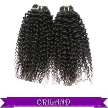 Hot sell and fashion 100% Wholesale afro Kinky Curl Synthetic Hair weaving/weft can heat resistant