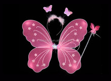 3PCS Set Butterfly Wing set With Wand and Tiara