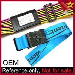 Travel ID Badge Luggage Strap/ Custom Luggage Belt with Lock/ Luggage Accessory