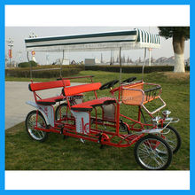 Double bench 4 passenger person bike