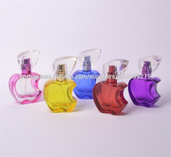 apple forma de esvaziar feminino de cristal frasco de perfume