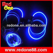 Arco iris cordones de los zapatos con rojo/azul/verde luz led cordones de los zapatos de fiesta