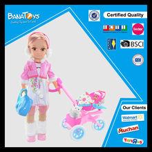 el más reciente 43cm con muñeca bebé carro muñecas de juguete para la niña