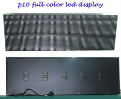 P10 standard 32X128 dots full color outdoor rental using LED TV display