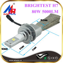 2015 brightest M7S double copper heat sink 80W 5000LM C-REE XHP-50 chips factory price h7 car led Headlight