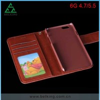 Leather Photo Frame Wallet Design For iPhone 6 Case, For iPhone 6 Mobile Leather Phone Lanyard Case
