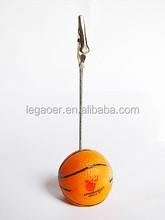 Promotion Basketball Shape Memo Clip, Name Card Holder
