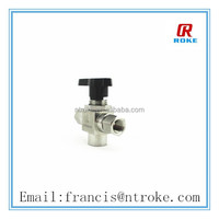 stainless steel mini ball valve chemical resistant 3 way valve 3pc style