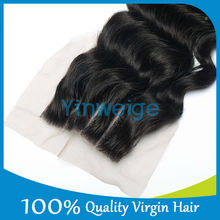 130% density brazilian lace top closure 3 part lace closure wholesale