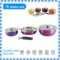 Original stainless steel removable handle cookware