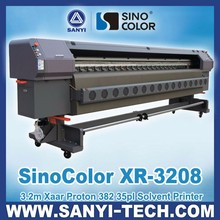 3.2m Outdoor Advertising Printing Machine, SinoColor XR-3208 with Xaar Proton 382 Printheads