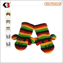children style double layer glove 2012