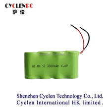 4.8v ni-mh sc 3000mah rechargeable battery pack 4.8v 3000mah nimh battery