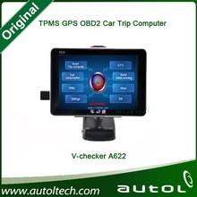 2015 New Generation V-checker A622 Trip Computer & GPS Navigator & TPMS & Oil Statistics Vchecker A622 Auto Diagnostic Tool