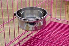 pet accessories stainless steel dog bowl Waterers/comederos dog feeders stainless steel double wall bowl