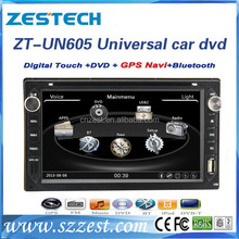ZT-UN605 Hot sell 2din 6.5'' car dvd player for Nissan universal cars with WIFI 3G USB/SD GPS DVD Support IPOD SWC