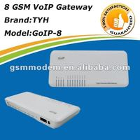 GoIP 8 getway/sms gateway sim bank/ for Quad band 8 channel call termination