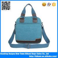 Suitable for men and women blue canvas shoulder messenger handbag