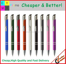 Aluminum barrel logo printed promotional metal pen