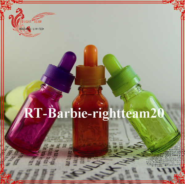 e-juice red glass dropper bottles 15ml with packing tube hot sell