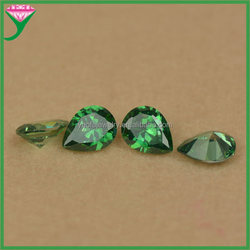 cheap price pear shape cut man-made synthetic cubic zircon emerald