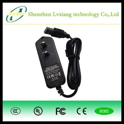 5W 5V 1A universal charger cell phone,ac dc adapter 100-240v,220v to 110v plug adapter with UL/CB/EMC APPROVAL