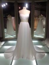 amostra real querida strapless plus size elegante simples noivas vestidos de noiva