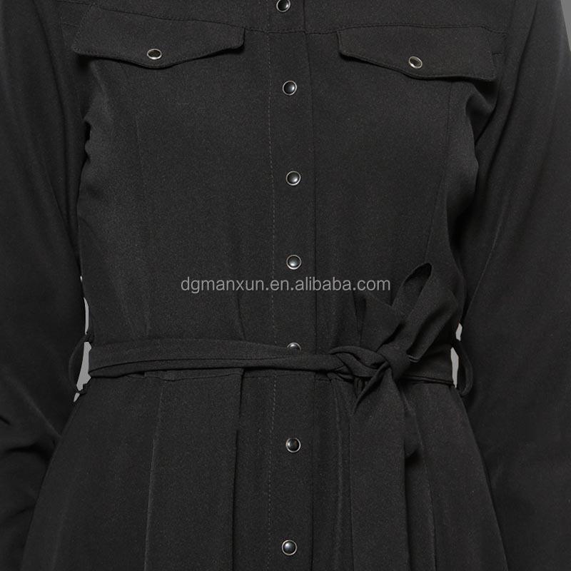 Fashion dubai black abaya new models sexy saudi girls image buttons abaya no see through muslim dre (7).jpg