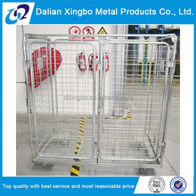 collapsible storage wire mesh roll cage