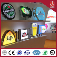 diy outdoor advertising beer picture frame light box frontstore light box sign