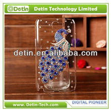 2013 Bling Bling Peacock Adorned Cover For Samsung Galaxy Note Rhinestone Case