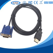 high quality hdmi to vga cable with audio china factory price hdmi2vga converter cable hdmi to vga with aux for network box