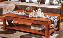 China High-End solid wood living room furniture, Africa style walnut wood living room furniture wooden side table