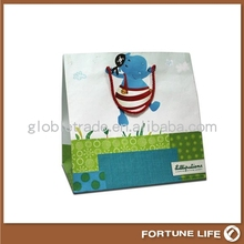durable plain kid paper bags with handle/paper book bags manufacturer,Guangzhou