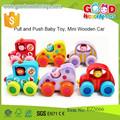 Venda quente Mini carro de brinquedo de madeira Set - colorido carro de brinquedo de madeira para crianças Mini carro de madeira conjuntos