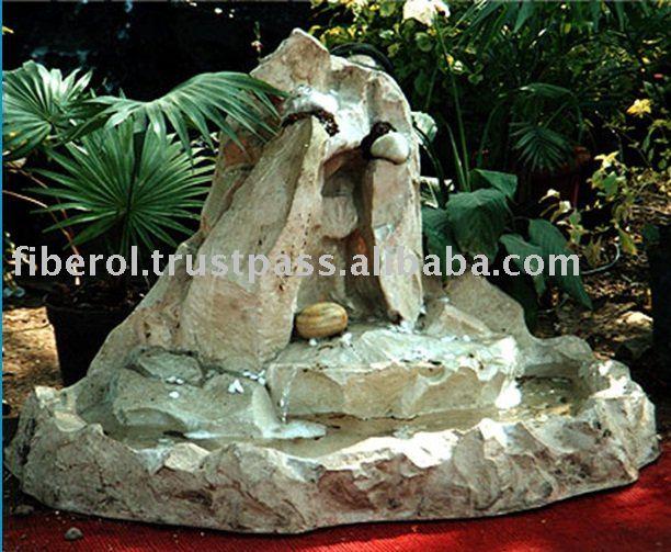 Jardin rochers cascade