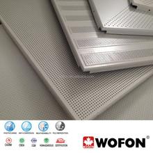 Furred ceiling durable aluminum perforated ceiling,lay in 595X595mm Aluminum Perforated Acoustic panels,