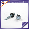 Zinc plated din7504 self drilling screw with rubber washer