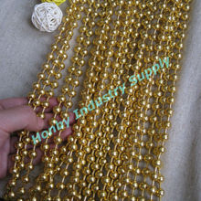 Prefered Interior Design 8mm Gold Beaded Curtain